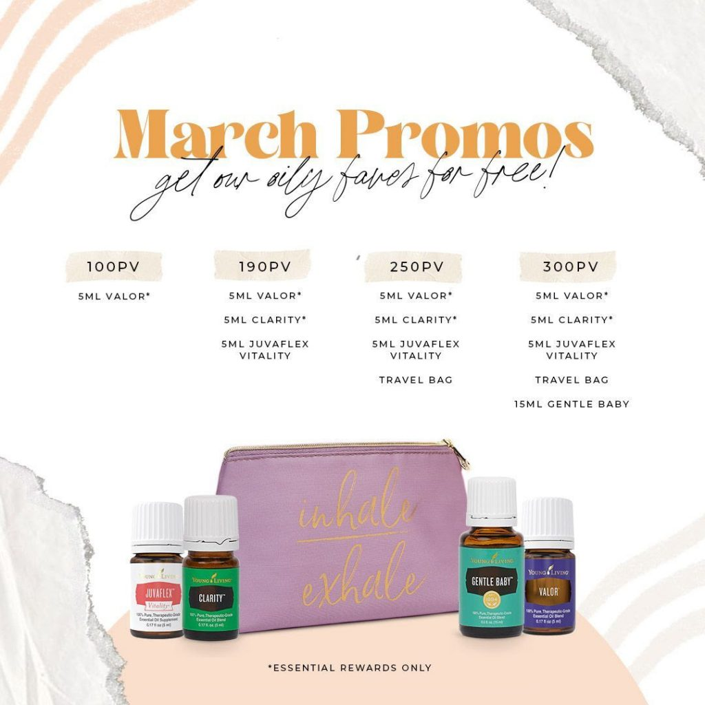 Young Living March Promos