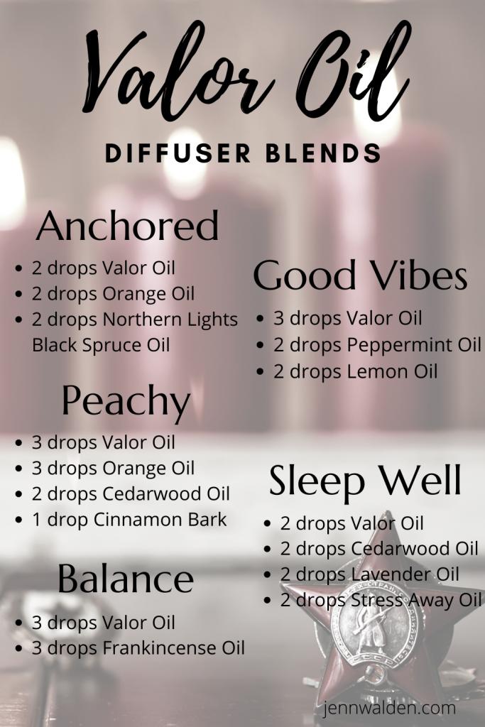 Valor Essential Oil Diffuser Blends