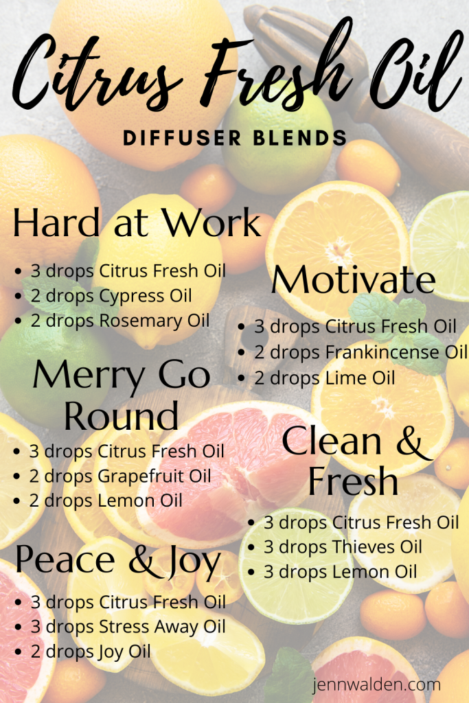Citrus Fresh Diffuser Blends