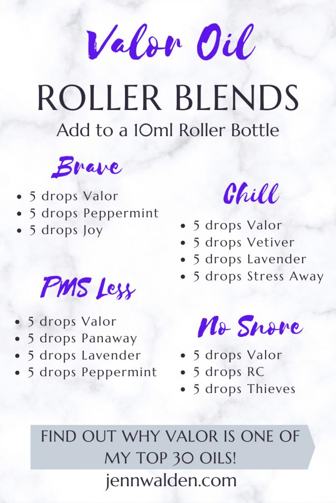 Valor Essential Oil Roller Blends