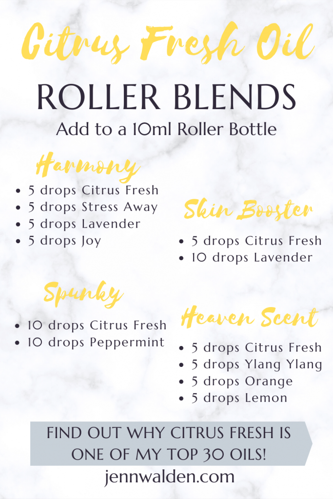 Citrus Fresh Essential Oil Roller Blends